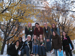 Madison SOS Teen Leaders at the State Capitol