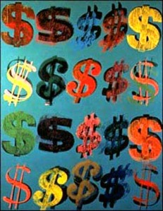 "Andy Warhol, ""Dollar Signs"""