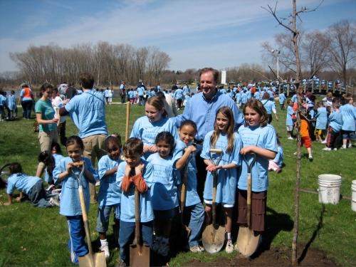 Mayor Dave and kids
